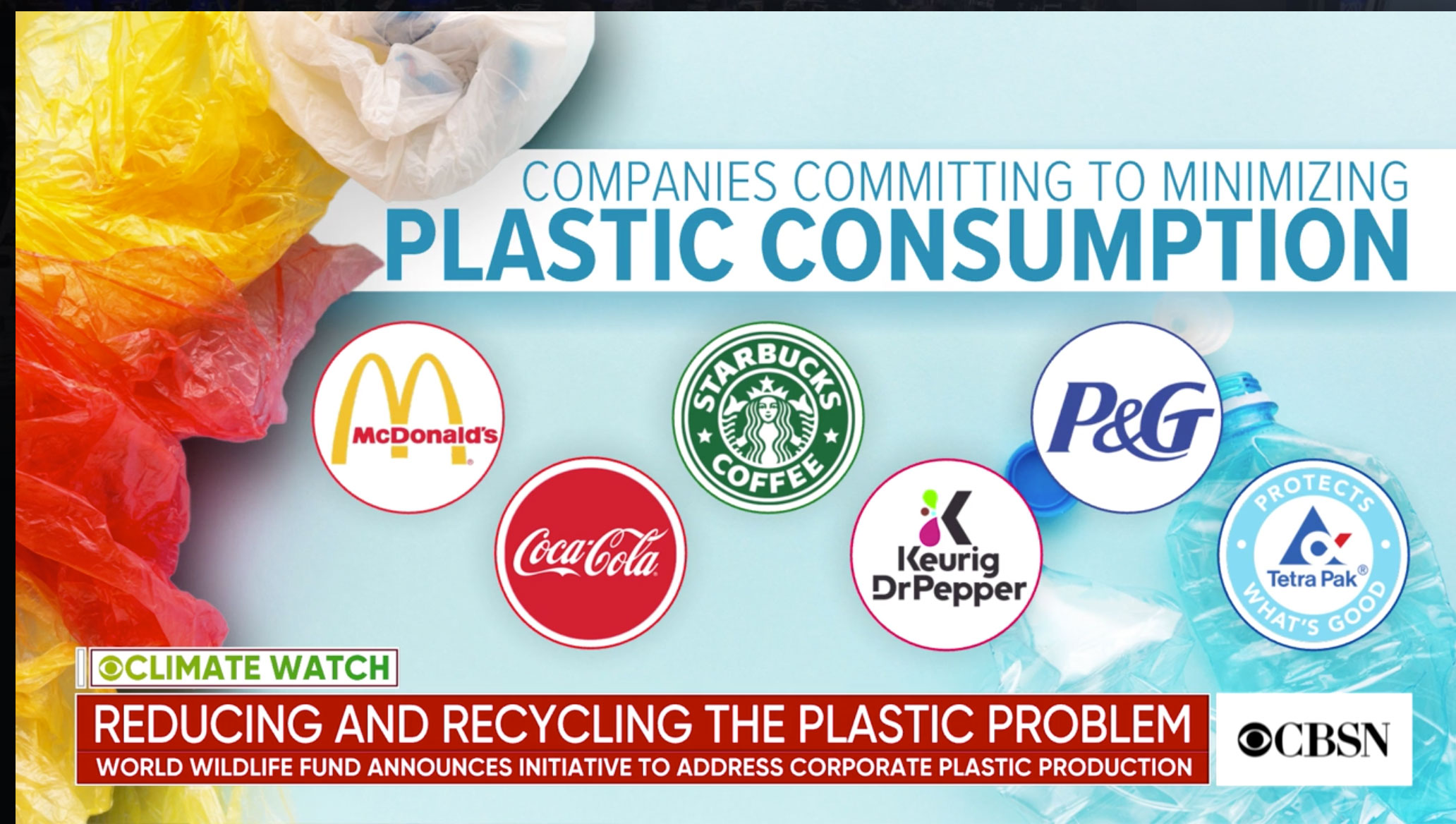 Big Companies join initiative to curb plastic production